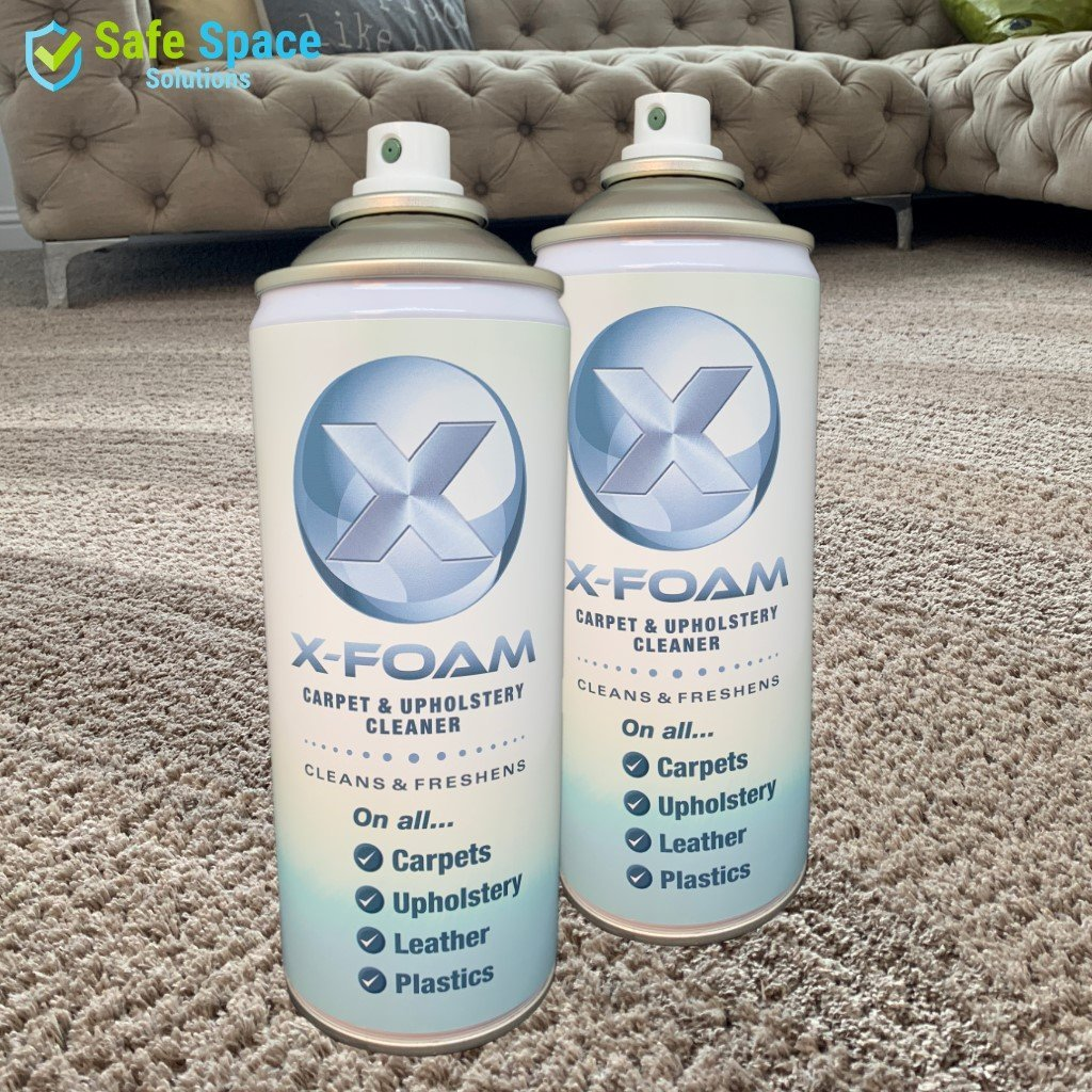 Twin Pack: X-Foam Carpet, Upholstery, Leather & Plastic Cleaner - Exotic Hedione