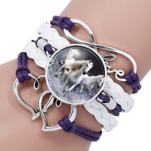 Horse Leather Infinity Wrap Bracelet