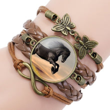 Load image into Gallery viewer, Horse Leather Infinity Wrap Bracelet