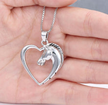 Load image into Gallery viewer, Horse in Heart Necklace