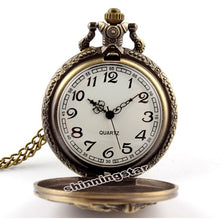 Load image into Gallery viewer, horse Bronze Quartz Pocket Watch