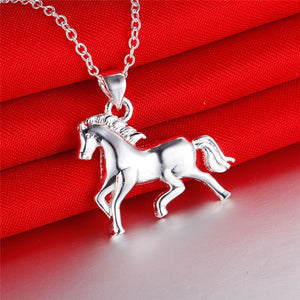 Horse 2 in 1 Earring & Necklace