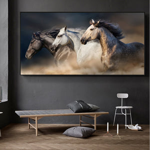 Three Running Horses Paintings