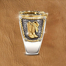 Load image into Gallery viewer, Luxury West Cowboy Horseshoe Ring