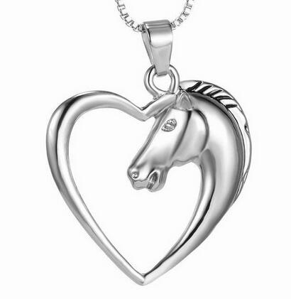 Horse in Heart Necklace