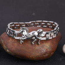 Load image into Gallery viewer, Stainless Steel Horse Bracelet
