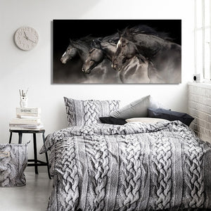Three Horses Running Pictures Canvas Painting