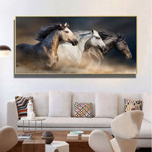 Load image into Gallery viewer, Three Horses Running Pictures Canvas Painting