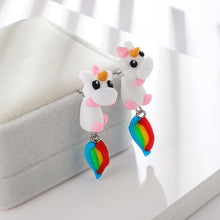 Load image into Gallery viewer, Cute 3D Unicorn Earrings
