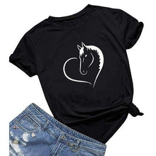 Load image into Gallery viewer, Horse heart T-shirt