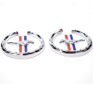 1 pair 3D Mustang Decoration sticker car