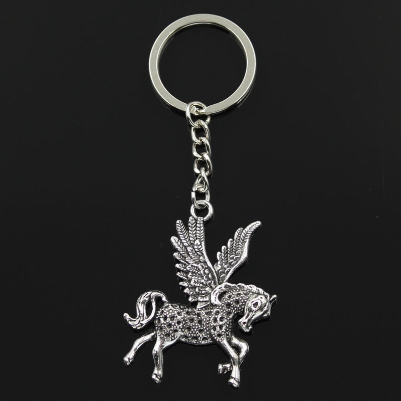 Fly Horse Unicorn Pendants Key Chain
