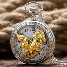 Load image into Gallery viewer, Luxury Golden Horse Pocket Watch