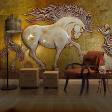 Load image into Gallery viewer, 3D Stereoscopic Horse Art Wall Wallpaper