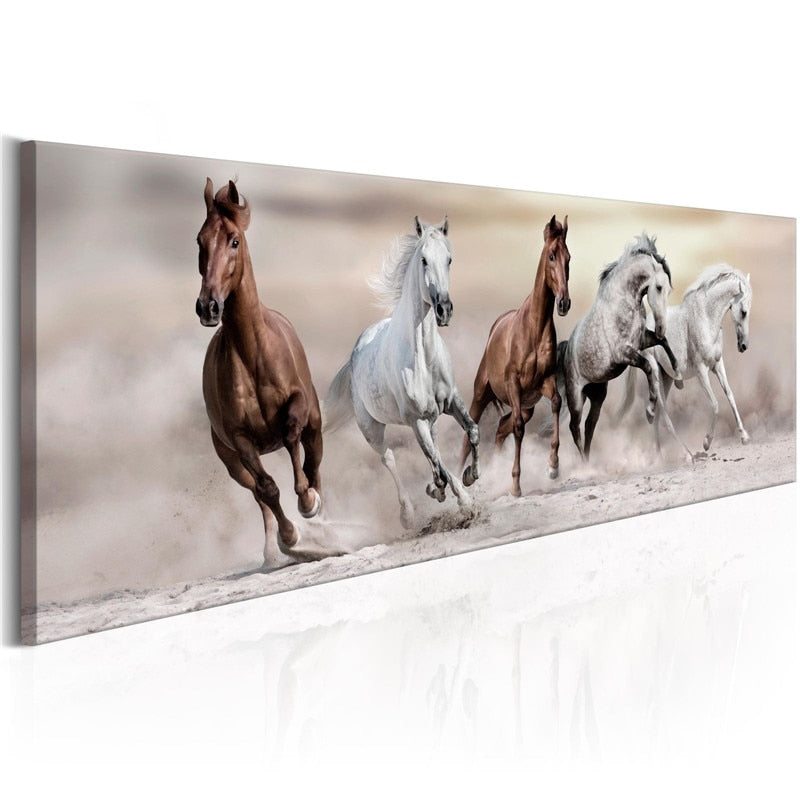 Canvas Running Horse Painting