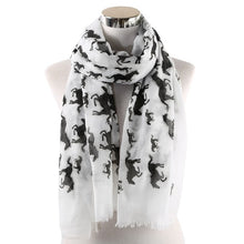 Load image into Gallery viewer, White Horse Scarf