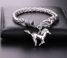 Load image into Gallery viewer, plated silver horse bracelet
