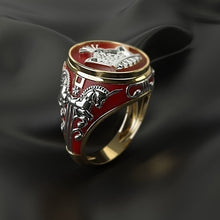 Load image into Gallery viewer, King Horse Golden Two-tone Knight Ring