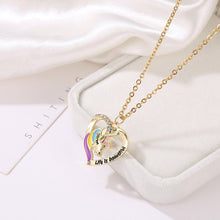 Load image into Gallery viewer, Unicorn Heart Pendant Necklaces