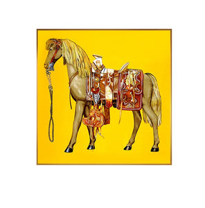 Red & Yellow War Horse Painting