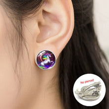 Load image into Gallery viewer, Lucky Unicorn and horse Glass Earrings