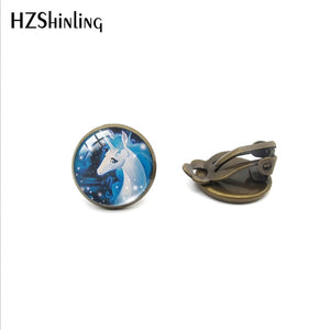 Lucky Unicorn and horse Glass Earrings