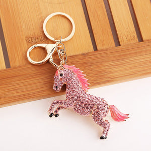 Red crustal Horse Pendant