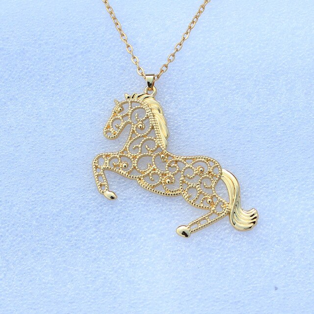 run horse necklace