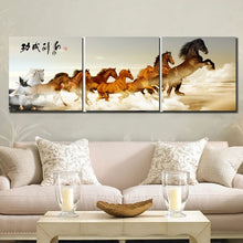 Load image into Gallery viewer, 3 panel Running Horse