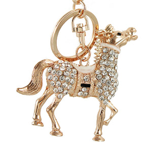 Crystal Lovely Horse key chain