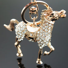 Load image into Gallery viewer, Crystal Lovely Horse key chain
