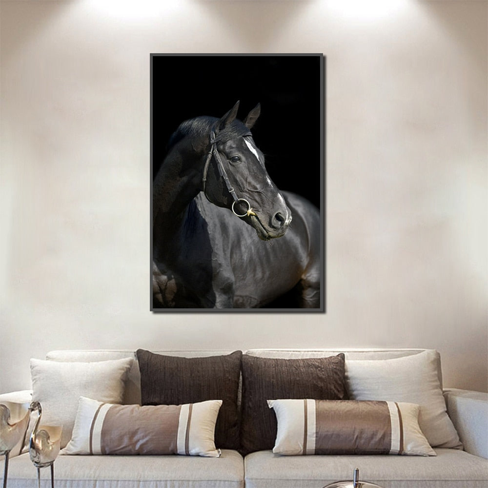luxure Black Horse Posters