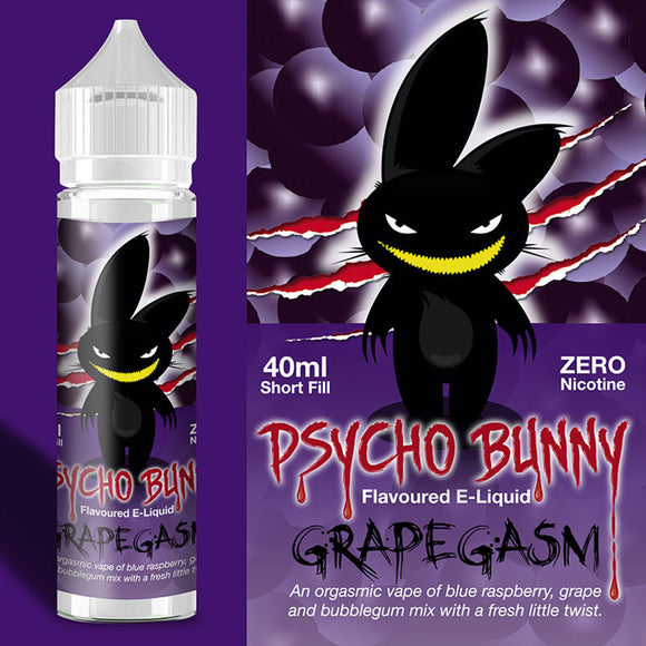 Psycho Bunny - Grapegasm - 40ml / 0mg - Premium E-Liquids & More