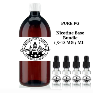 Pure PG Nicotine Base Bundle 1,5-12 MG / ML - Premium E-Liquids & More