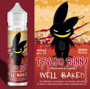 Psycho Bunny - Well Baked - 40ml / 0mg - Premium E-Liquids & More