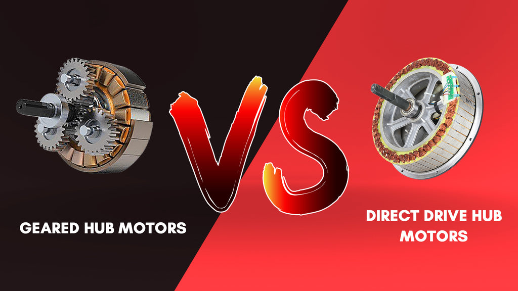 E-bike Geared Hub Motors vs Direct Drive Hub Motors