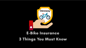 Electric bike Insurance - 3 Things You Must Know
