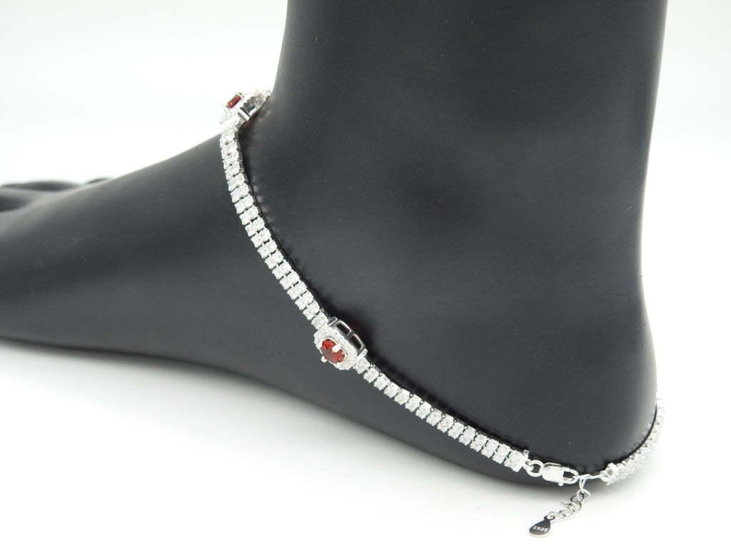 Sterling Silver Stone Payal