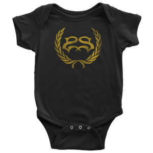 Leaves Distressed Logo Onesie
