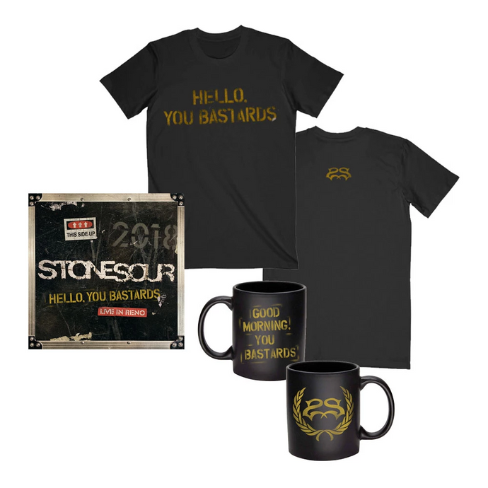 Hello, You Bastards <br>Tee + Mug + Music Bundle
