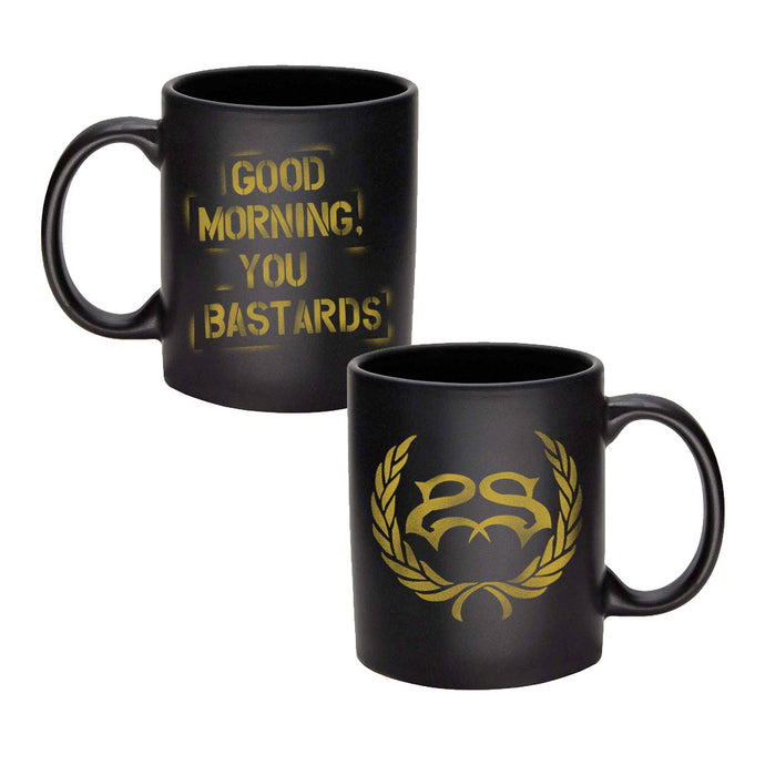 Good Morning, You Bastards <br>Matte Black Coffee Mug