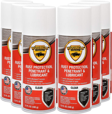 Woolwax® 12 oz. Aerosol Spray. 12 Cans per case.  Clear Color