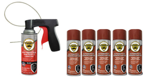 Woolwax® Spray Can Undercoating Kits.  You choose.   6 can, or 12 can. Straw(clear) or Black.