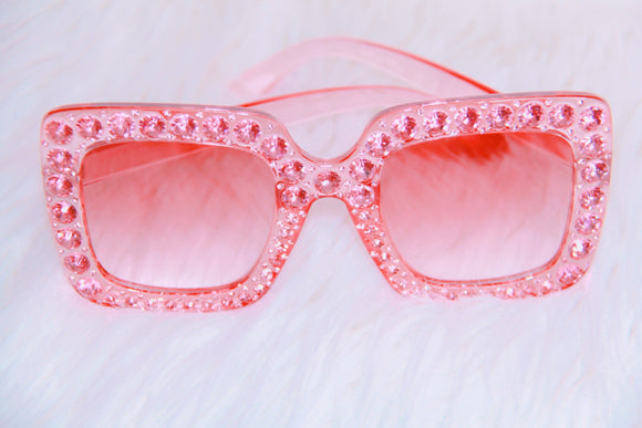 Bling sunglasses in pink
