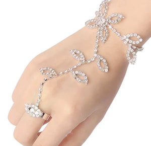 Classy bracelet with ring attached