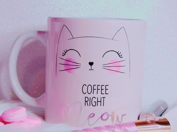 Coffee right meow mug