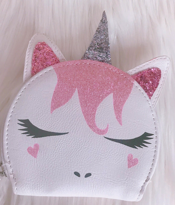 Unicorn zip pouch wallet