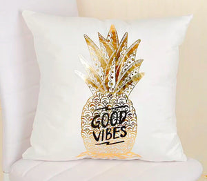 Good vibes pineapple pillow case
