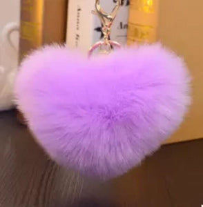 Heart shaped pom poms