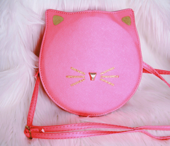 Hot pink kitty bag purse